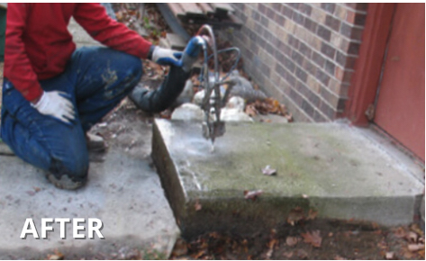 After concrete leveling | Portage